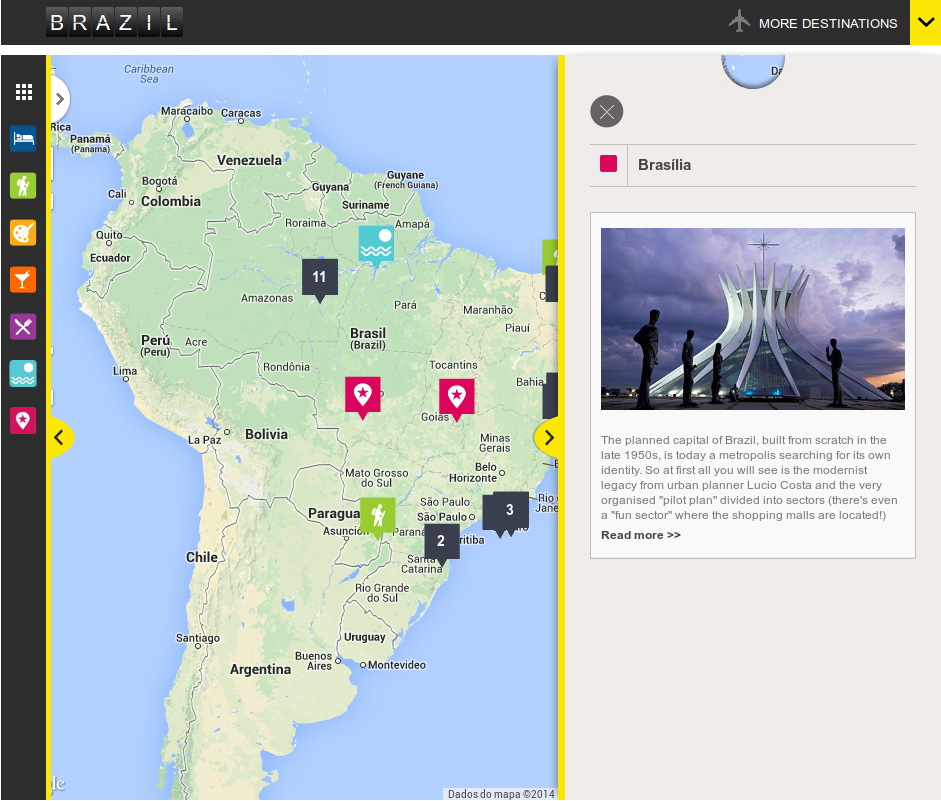 Brazil 2014: interactive World Cup travel guide