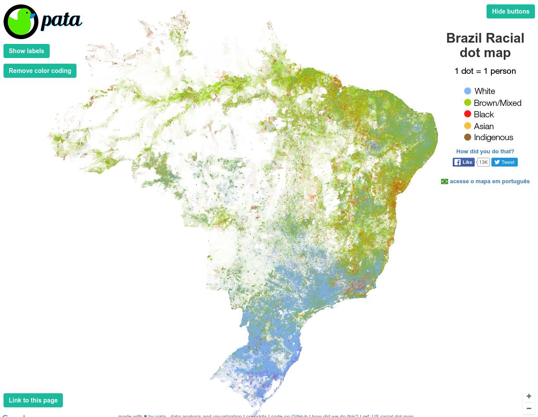 Brazil Racial dot map