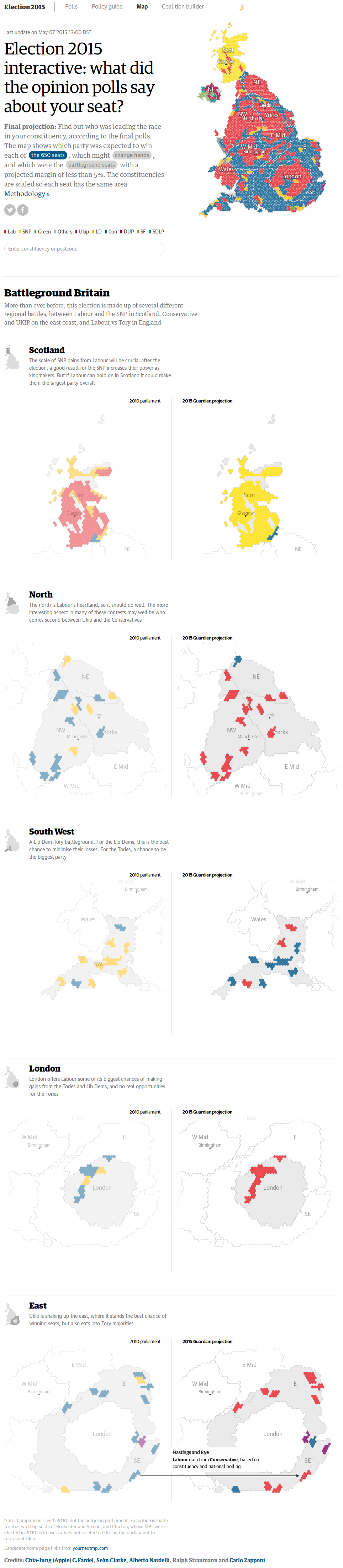 Election 2015 interactive: what did the opinion polls say about your seat?