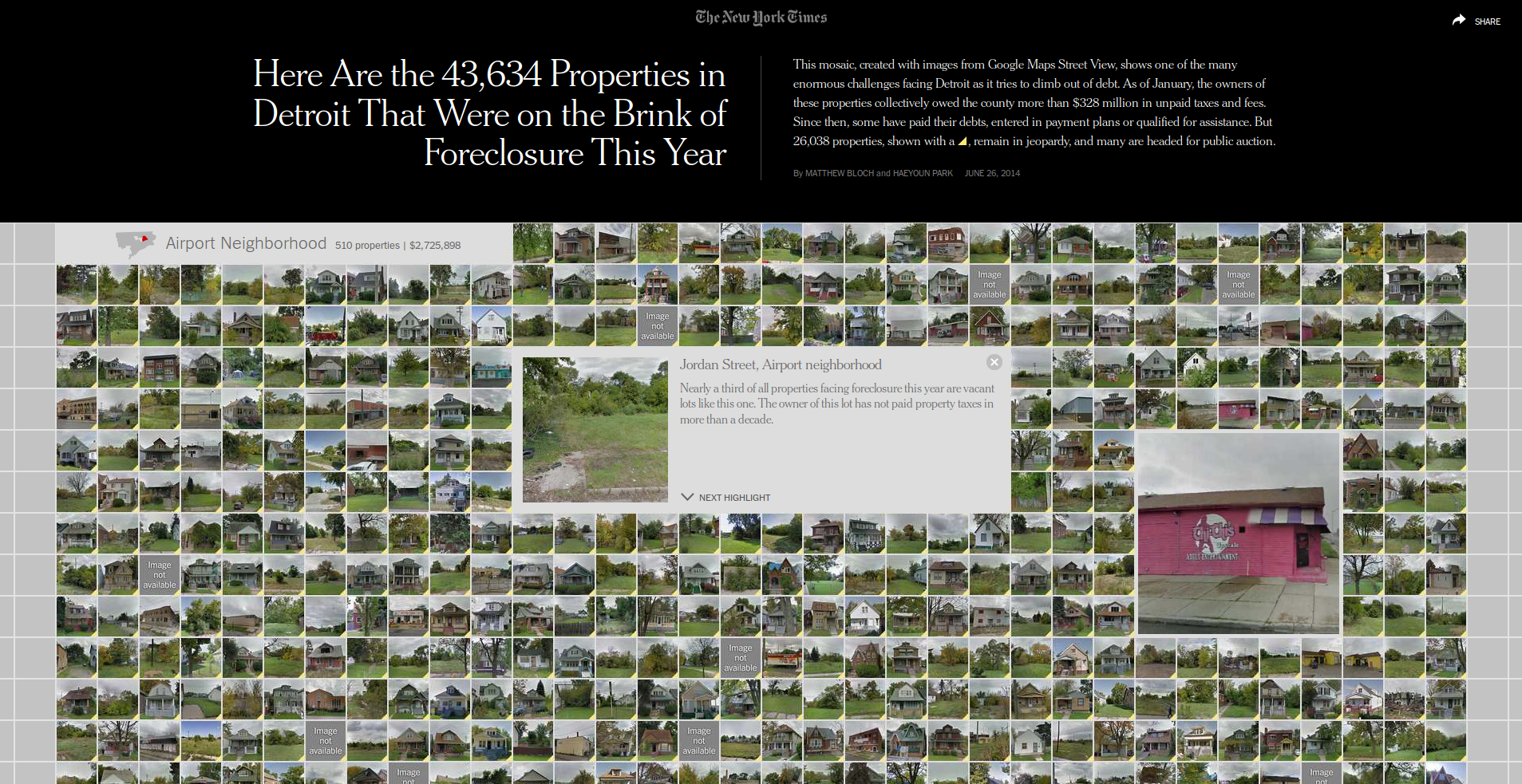 Here Are the 43,634 Properties in Detroit That Were on the Brink of Foreclosure This Year