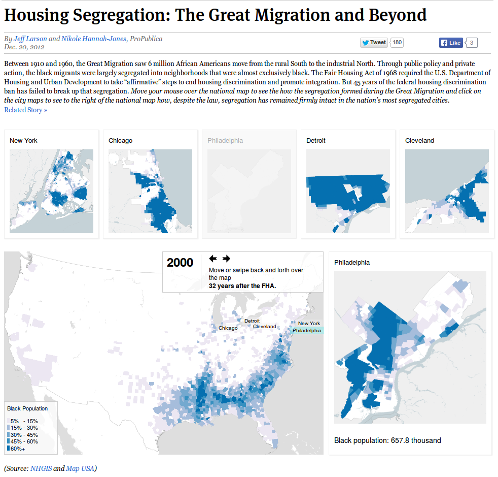 Housing Segregation: The Great Migration and Beyond