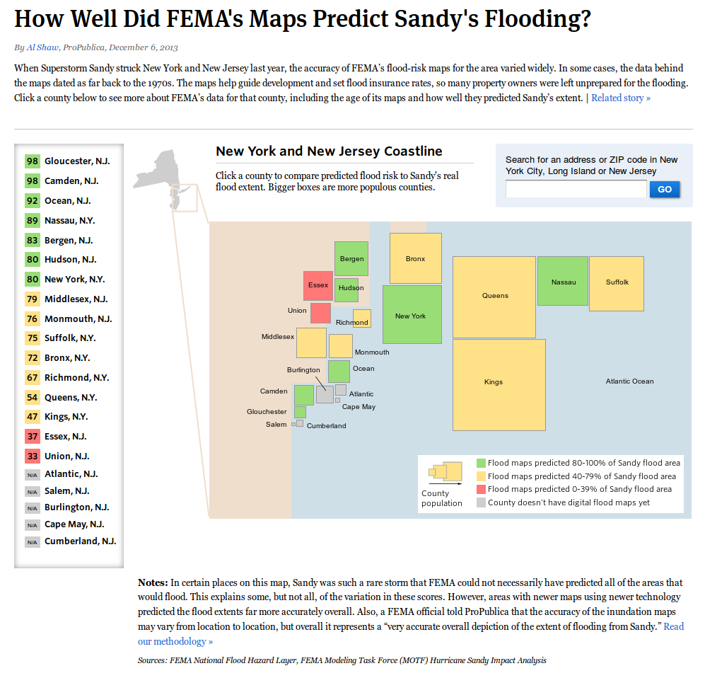 How Well Did FEMA's Maps Predict Sandy's Flooding?