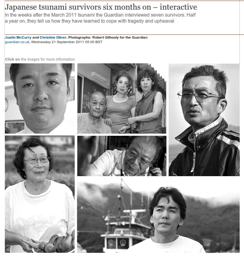 Japanese tsunami survivors six months on