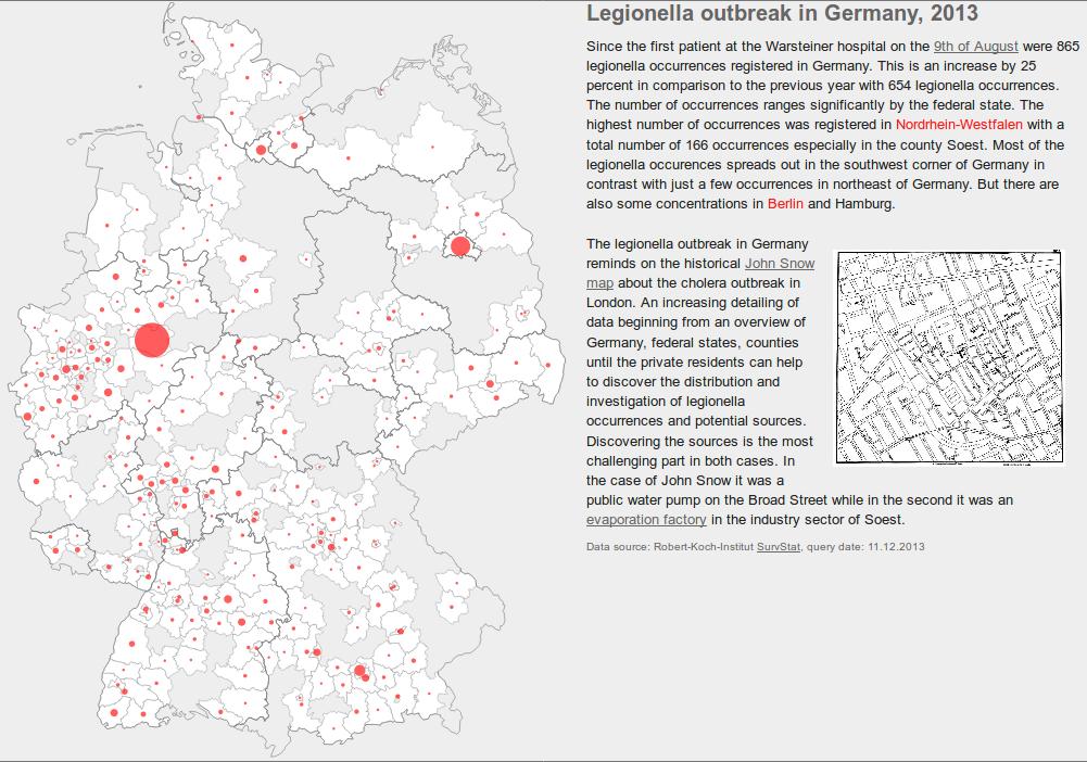 Legionella outbreak in Germany, 2013