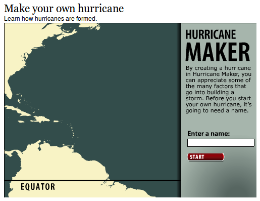 Make your own hurricane