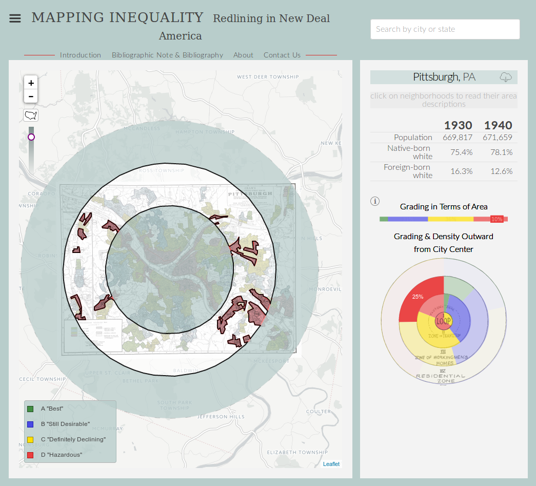 Mapping Inequality: Redlining in New Deal America