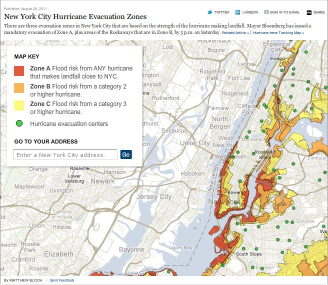 New York City Hurricane Evacuation Zones